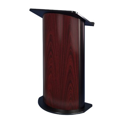 AmpliVox Sound Systems Jewel Mahogany Lectern with Black Anodized Aluminum