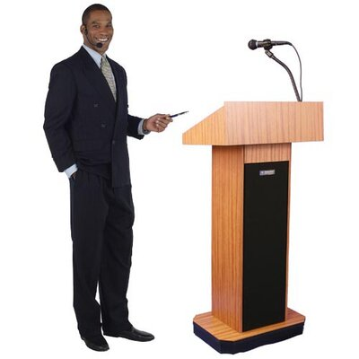 AmpliVox Sound Systems Executive Sound Column Lectern