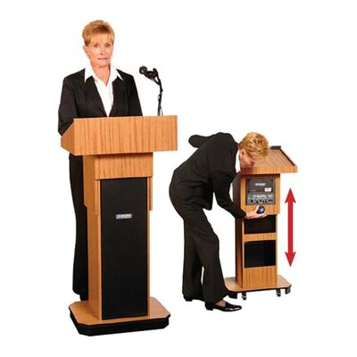 AmpliVox Sound Systems Executive Adjustable Height Sound Column Lectern