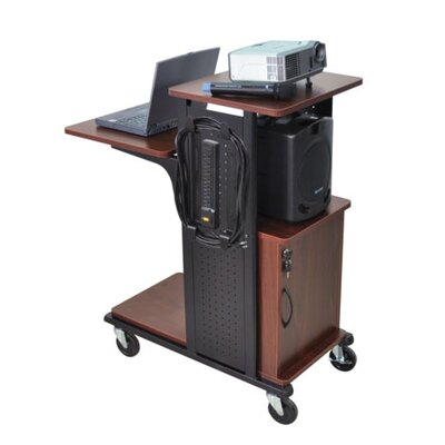 AmpliVox Sound Systems Mobile Presentation Station in Black