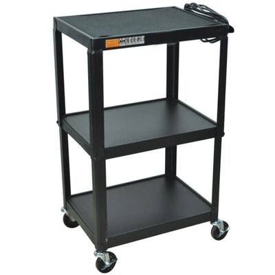 AmpliVox Sound Systems Cart in Black