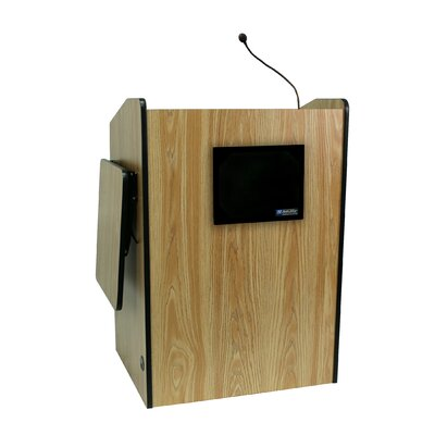 AmpliVox Sound Systems Wired44&quot; Multimedia Presentation Podium
