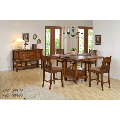 comfort decor urban 5 piece counter height dining set