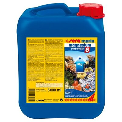Sera USA Marin Component 6 Magnesium  Water Conditioner - 5000ml