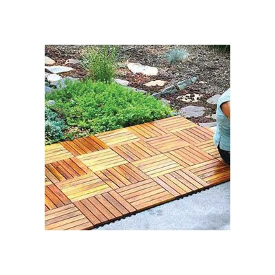 "Vifah Plantation Teak 12"" x 12"" Interlocking Deck Tiles"