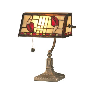 Dale Tiffany Henderson Bankers 1 Light Table Lamp