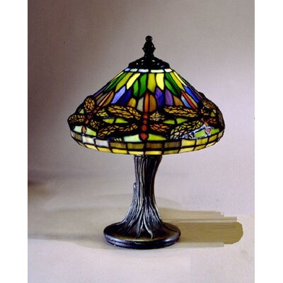 Dale Tiffany Miniature Dragonfly  Table Lamp in Antique Brass