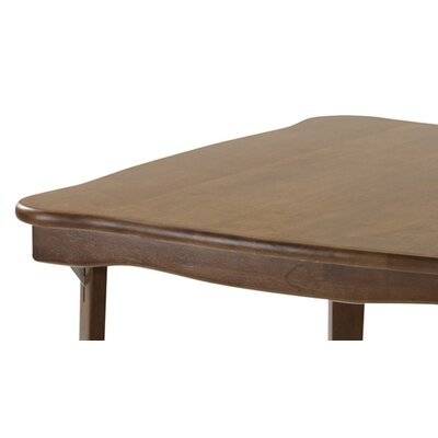 Stakmore Company, Inc. Scalloped Edge Wood Folding Card Table in Fruitwood