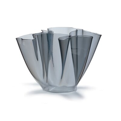 FontanaArte Cartoccio Glass Vase in Grey