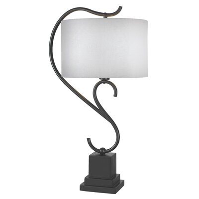 Kenroy Home Swirl Table Lamp in Weathered Steel