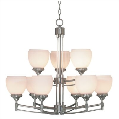 Kenroy Home Pierce 9 Light Chandelier