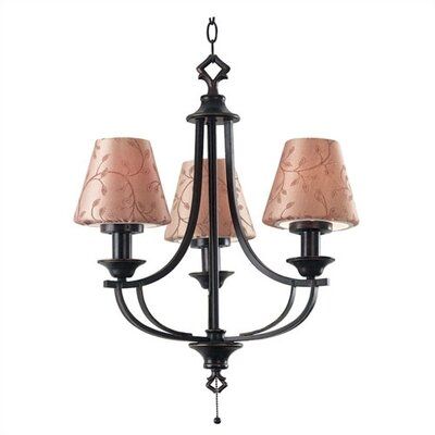 Kenroy Home Outdoor 3 Light Belmont Outdoor Chandelier
