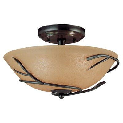 Twigs 3 Light Semi Flush Mount or Ceiling Fan Ligh