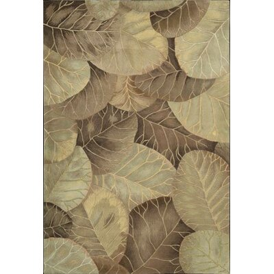 Nourison Tropics Brown/Green Novelty Rug