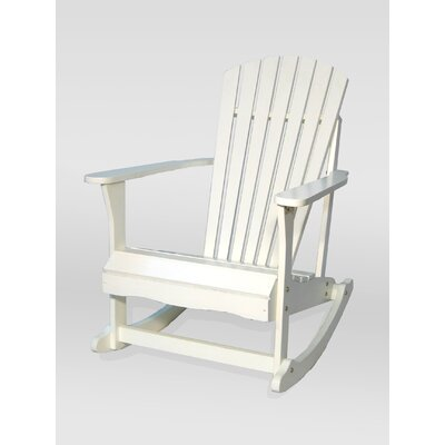 Adirondack Porch Rocker in White