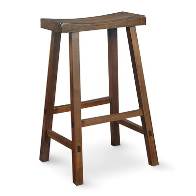 "International Concepts 29"" Saddleseat Counter Barstool (Distressed Walnut)"