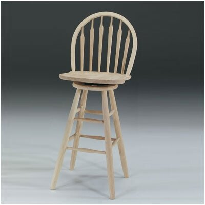 "International Concepts 30"" Arrowback Windsor Swivel Stool"