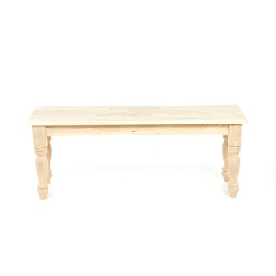 International Concepts Farmhouse Wooden Bench