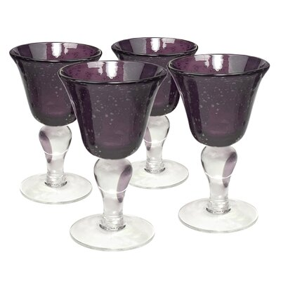 Iris Wine Glass in Plum (Set of 4)