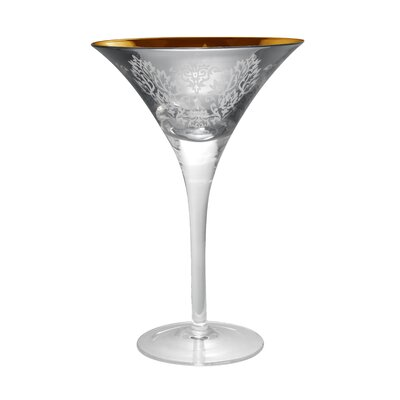 Brocade Martini Glass in Silver (Set of 4)