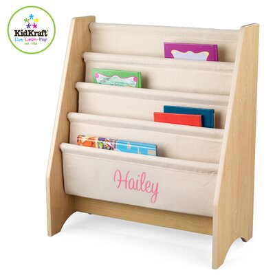 KidKraft Personalized Sling Book Shelf in Natural