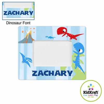 Personalized Dinosaur Blue Frame