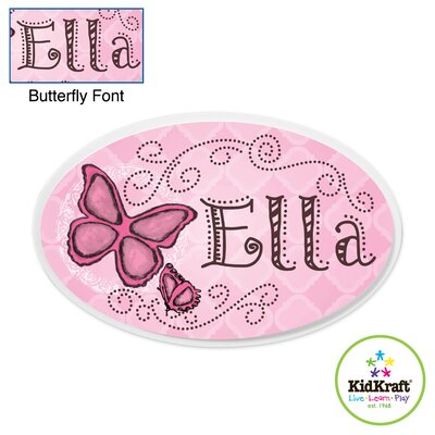 KidKraft Personalized Butterfly Oval Wall Plaque