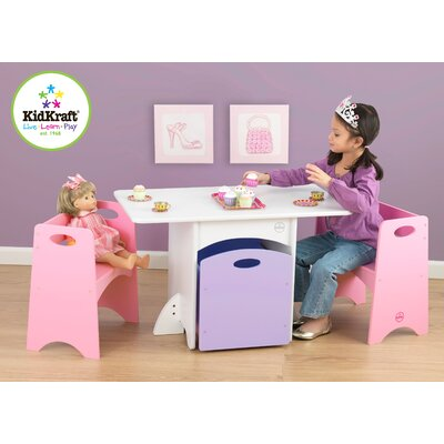 KidKraft Kids' 4 Piece Table and Chair Set