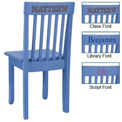 KidKraft Personalized Avalon Chair in Cornflower