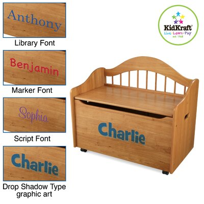 KidKraft Personalized Limited Edition Toy Box