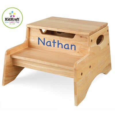 KidKraft Personalized Step N' Store Stool in Natural