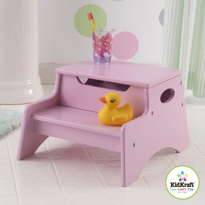 KidKraft Personalized Step N' Store Stool in Pink