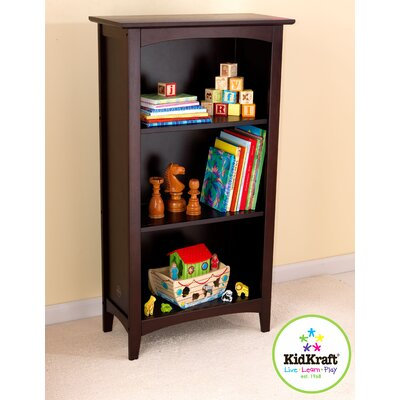 KidKraft Avalon Three-Shelf Bookcase in Espresso