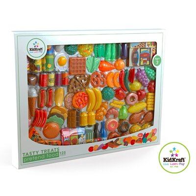 KidKraft 125 Piece Tasty Treats Play Food Set