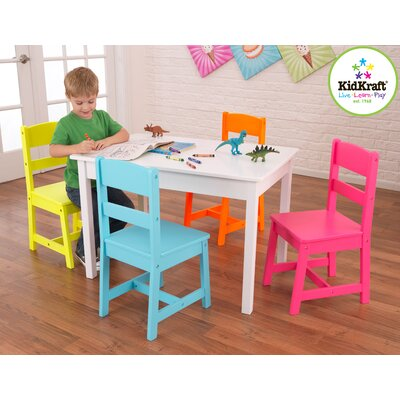 KidKraft Highlighter Kids 5 Piece Table and Chair Set