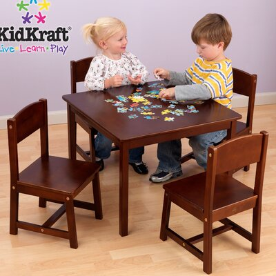 KidKraft Farmhouse Kids' 5 Piece Table and Chair Set