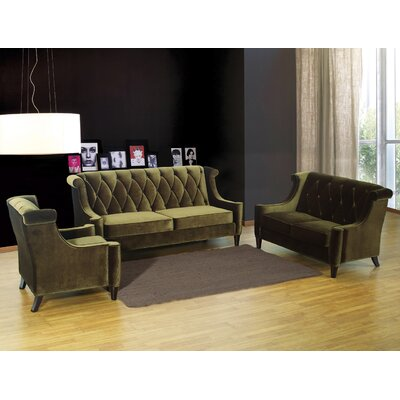 Barrister Velvet Living Room Collection