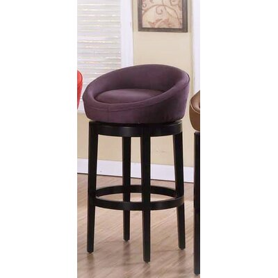 Igloo Microfiber Swivel Barstool in Eggplant