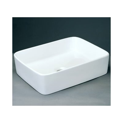 Rectangle Ceramic Vessel Bathroom Sink without Overflow - 200003-WH