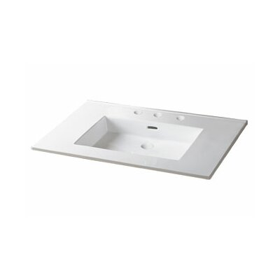 Ronbow 37inches Ceramic lav top w/integrated sink (single faucet hole)