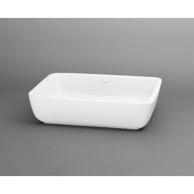Ronbow Ceramic Rectangle Vessel Sink without Overflow