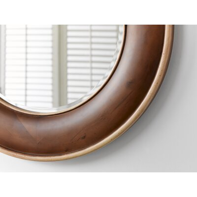 "Ronbow 33"" x 33"" Traditional Style Wood Framed Mirror"