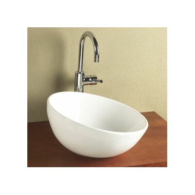 Ronbow Sloped Rim Round Ceramic Vessel Bathroom Sink without Overflow