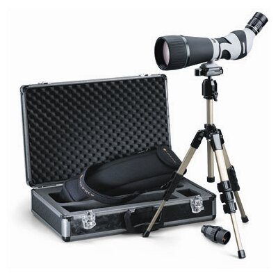 Kenai 30x 25-60x80mm Angled Spotting Scope Kit in Gray / Black