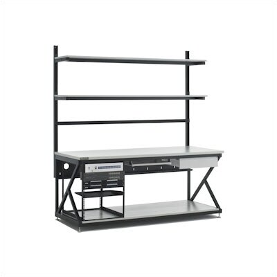 "Kendall Howard 72"" Performance LAN Station Workbench with Full Bottom Shelf"