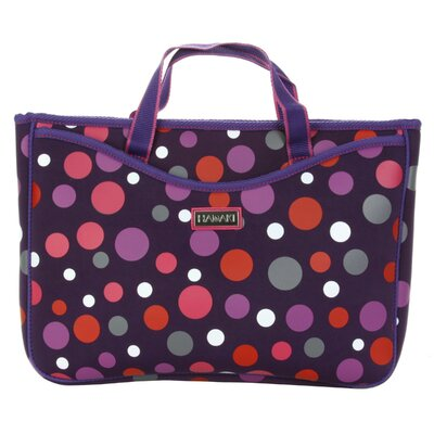Hadaki Small Neoprene Laptop Sleeve in Bouncing Ball Berry