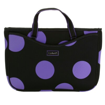 Hadaki Large Neoprene Laptop Sleeve in Bubbles Plum