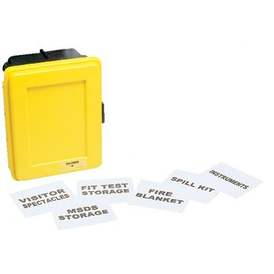 Allegro Generic Wall Cases - small yellow plastic wall case w/single shelf
