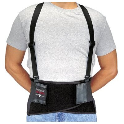 Allegro Bodybelts - medium black bodybelt back support w/non-remov