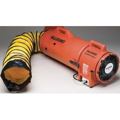"Allegro 8"" Plastic COM-PAX-IAL Blower With Canister and 25' Ducting"